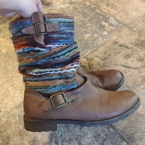 Cowboy Boots Faux Leather Country Rainbow Cowgirl